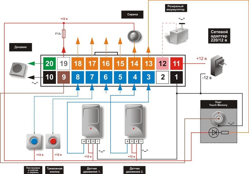 рапид датчик схема подключения